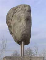 Merkurkopf an der Via Claudia bei Gersthofen