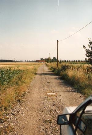 Via Claudia in Richtung Gut Geratshofen